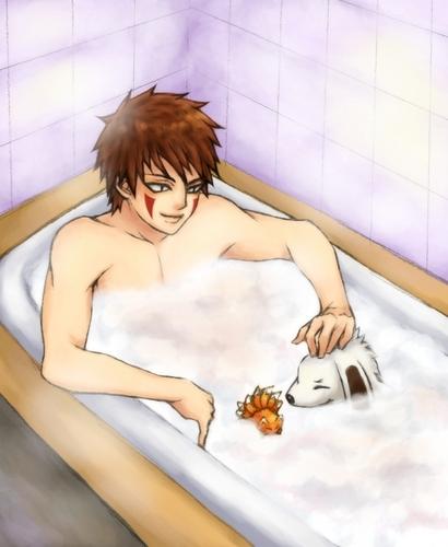 Kiba Bath Time