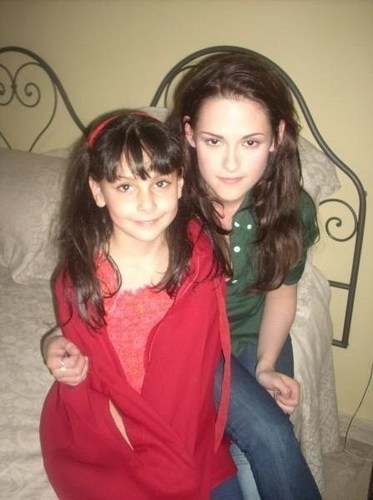 Kristen and the little girl from italy