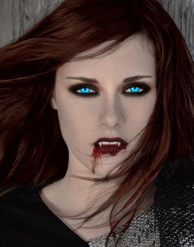 Kristen as a vampire(not as Twilight vamp)