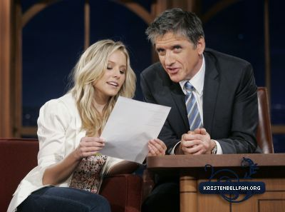Kristen on The Late Show With Craig Ferguson