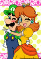 Luigi and Daisy - luigi-and-daisy fan art