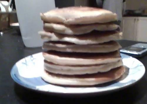 Michaela made pancakes!