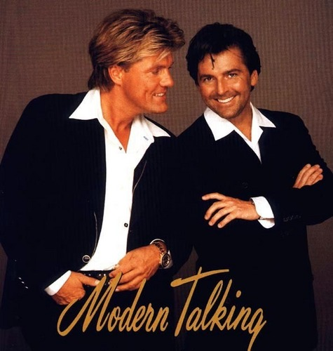 Modern Talking Hintergrund possibly with a business suit, a well dressed person, and a suit titled Modern Talking