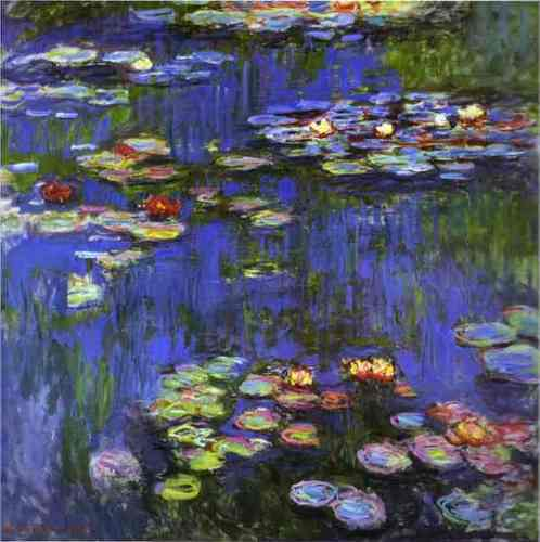 Fine Art Hintergrund possibly containing a laichkrautgewächs, pondweed, laichkräuter called Monet