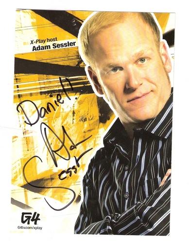 My Adam Sessler Autograph