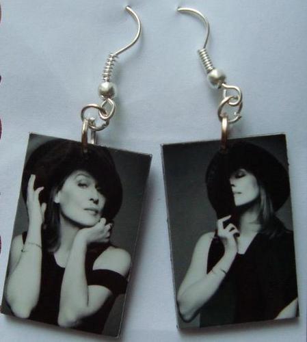 My earrings with Meryl