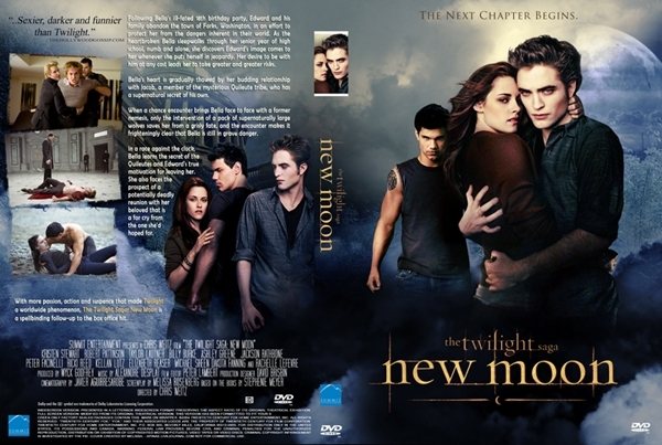 robert pattinson and kristen stewart new moon. New Moon DVD Cover