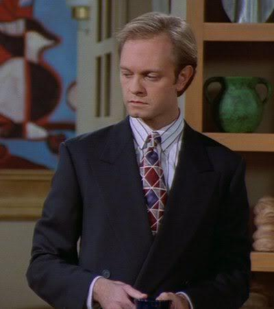 Frasier fondo de pantalla containing a business suit, a suit, and a single breasted suit entitled Niles grua, grúa