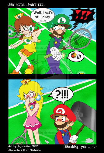 OUCH! That's gotta hurt! - luigi-and-daisy Fan Art