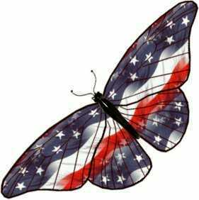 Butterflies wallpaper entitled Patriotic Butterfly