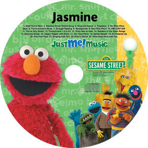 Sesame Street wallpaper entitled Personalized Elmo and Friends Music CD