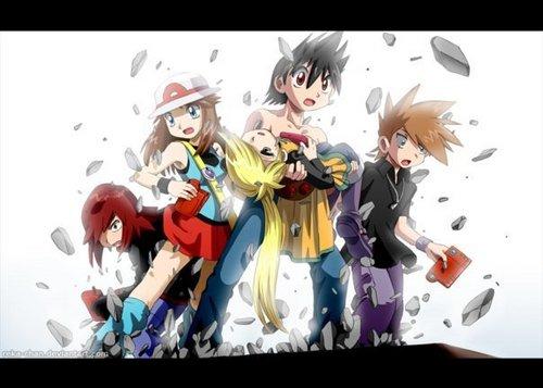 Pokemon Adventures Wallpaper Containing Anime Called Pokemon Adventures