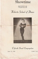 Program Goldie Hawn dance school 1958
