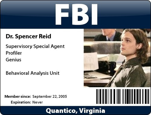 Dr. Spencer Reid wallpaper entitled Reid ID