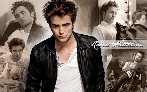 Twilight Series wallpaper containing a well dressed person and a business suit called Robert Pattinson ~ Wallpaper ~