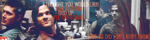 SPN Natale themed banners