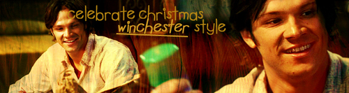 SPN Christmas themed banners