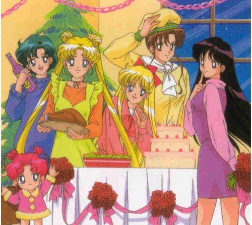 Sailor Moon Sailor Stars karatasi la kupamba ukuta with anime entitled Sailor Moon Sailor Stars Xmas