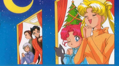 Sailor Moon Sailor Stars fondo de pantalla with anime entitled Sailor Moon Sailor Stars Xmas