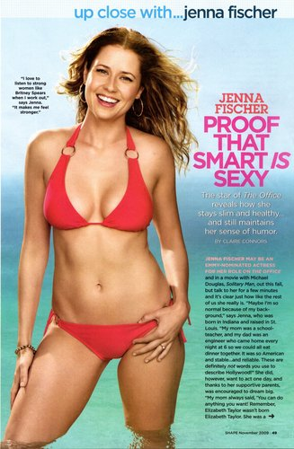 ジェナ・フィッシャー 壁紙 containing a bikini titled Shape Magazine
