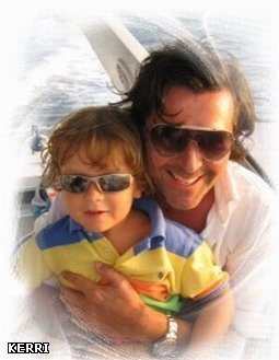 Thomas Anders achtergrond titled Thomas Anders & his family