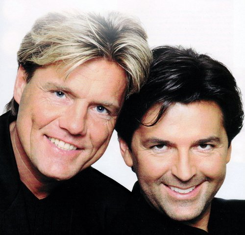 Modern Talking Hintergrund probably with a portrait called Thomas & Dieter