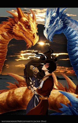 Zutara: Of Fire and Water wallpaper possibly with a sign entitled Zuko and Katara <3