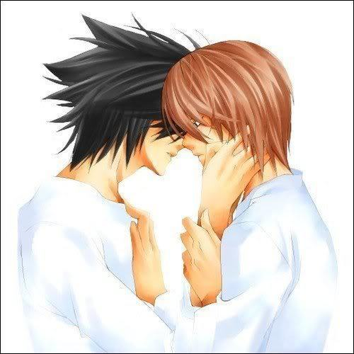 DEATH NOTE Almost-kiss-death-note-yaoi-9357526-500-500