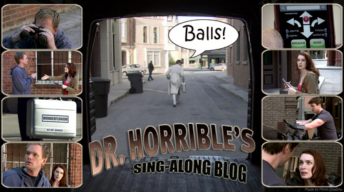 Dr. Horrible's Sing-A-Long Blog wallpaper containing a diner entitled balls))