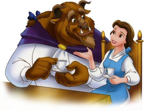 belle and the beast having trà