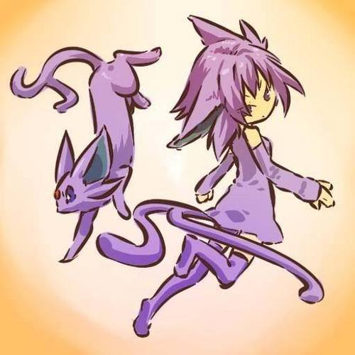 espeon and trainer