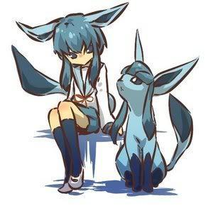 glaceon and trainer