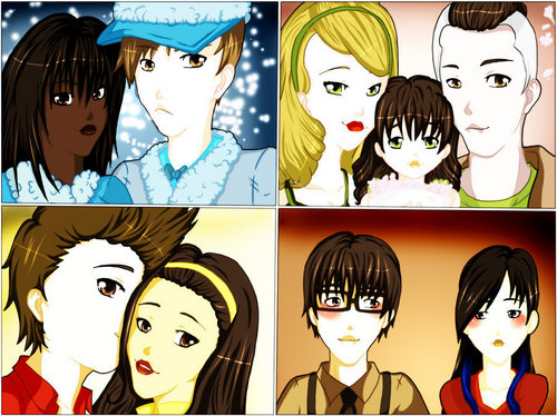glee couples fanart