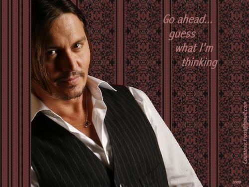 guess what I'm thinking - johnny-depp Wallpaper