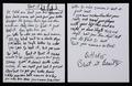 handwritten beat it lyrics - michael-jackson photo