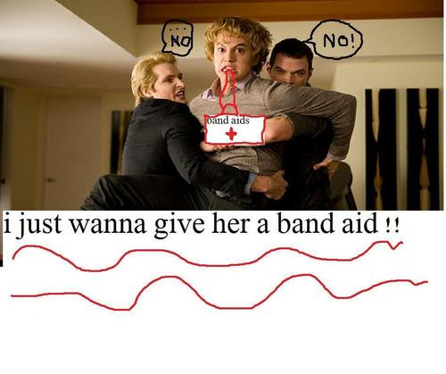 jasper wants to give bella a band aid