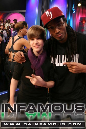 justin bieber and DJ WALLAH - LIVEat BET's 106 and Park
