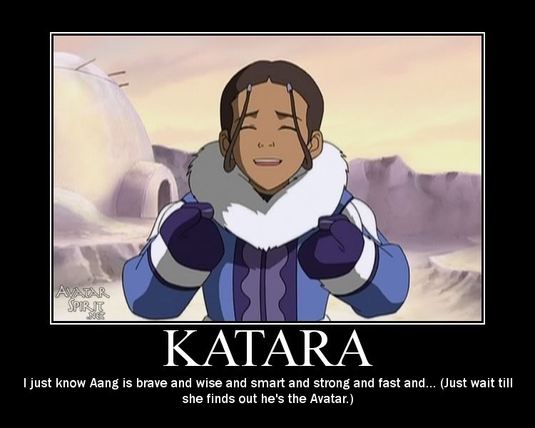 Aang and Katara Avatar The