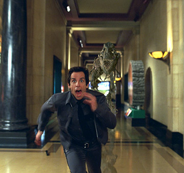 larry running from rexie