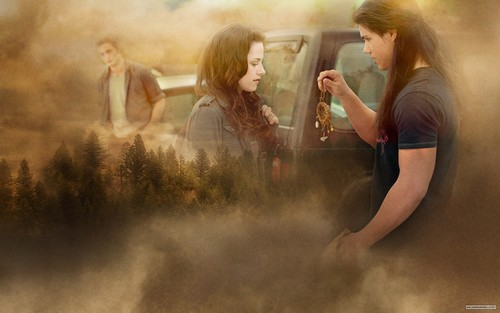 •♥• Edward Bella & Jacob NEW MOON 壁紙 •♥•