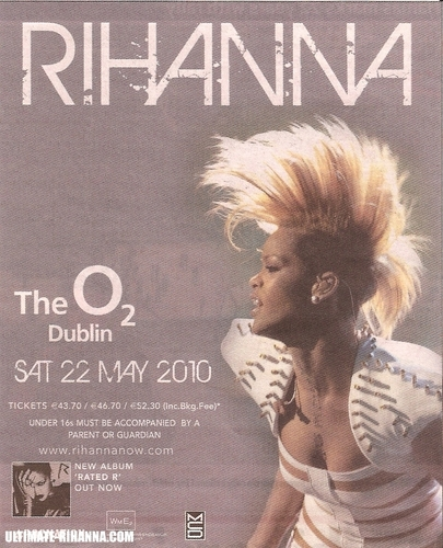 2010 Irish Tour Promo Poster