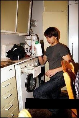 ALex doing laundry