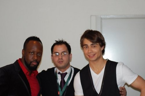 Alex and Wyclef Jean