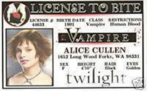 Alice Cullen license to bite