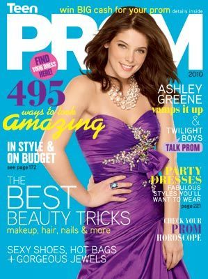 Ashley in Teen Prom mag