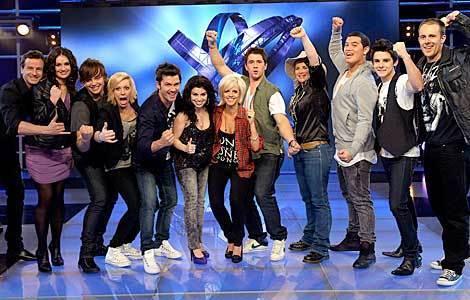 Australian Idol вверх 12 - 2009