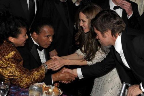 Brad Pitt & Angelina Jolie at the UNICEF Snowflake ball