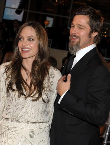 Brad Pitt & Angelina Jolie at the UNICEF Snowflake ball