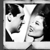 Cary Grant photo possibly containing a holding cell, a stained glass window, and a penal institution entitled Cary Grant and Katharine Hepburn
