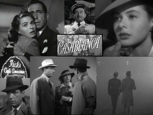 Casablanca wallpaper containing a fedora, a dress hat, and a boater titled Casablanca